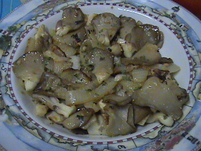 Sauteed Oyster Mushrooms